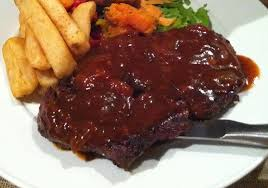 Monkey Gland Steak and Chips