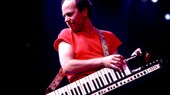 Jan Hammer on 11/27/83 in Dallas, Tx..  Photo by Paul Natkin