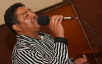 Russell Majiet singing