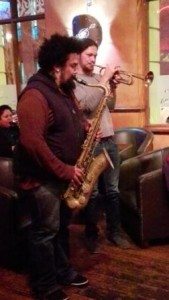 Mark Fransman, sax, and Darren English, trumpet