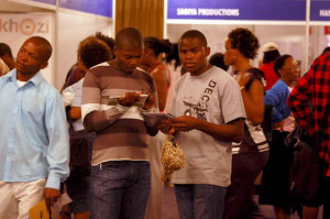 A young audience at the Imbizo exhibition