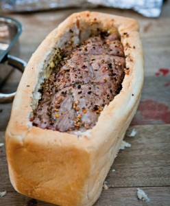 The Poor Mans Beef Wellington, which is really Justin Bonello's braaied Beef Wellingto