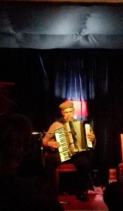 Tony Cedras on accordion at Straight No Chaser, CapeTown