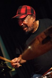 South African drummer Louis Moholo-Moholo