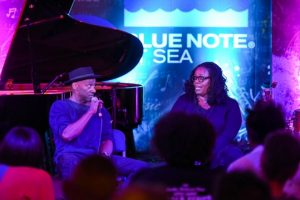 Marcus Miller interviewing Diane Reeves